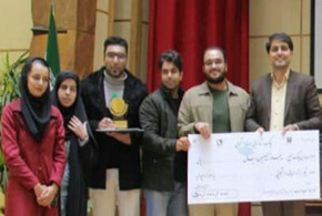 Ranking the first place of student team of Arak University of Medical Sciences at National Conference and Trade Fair on Health Technology